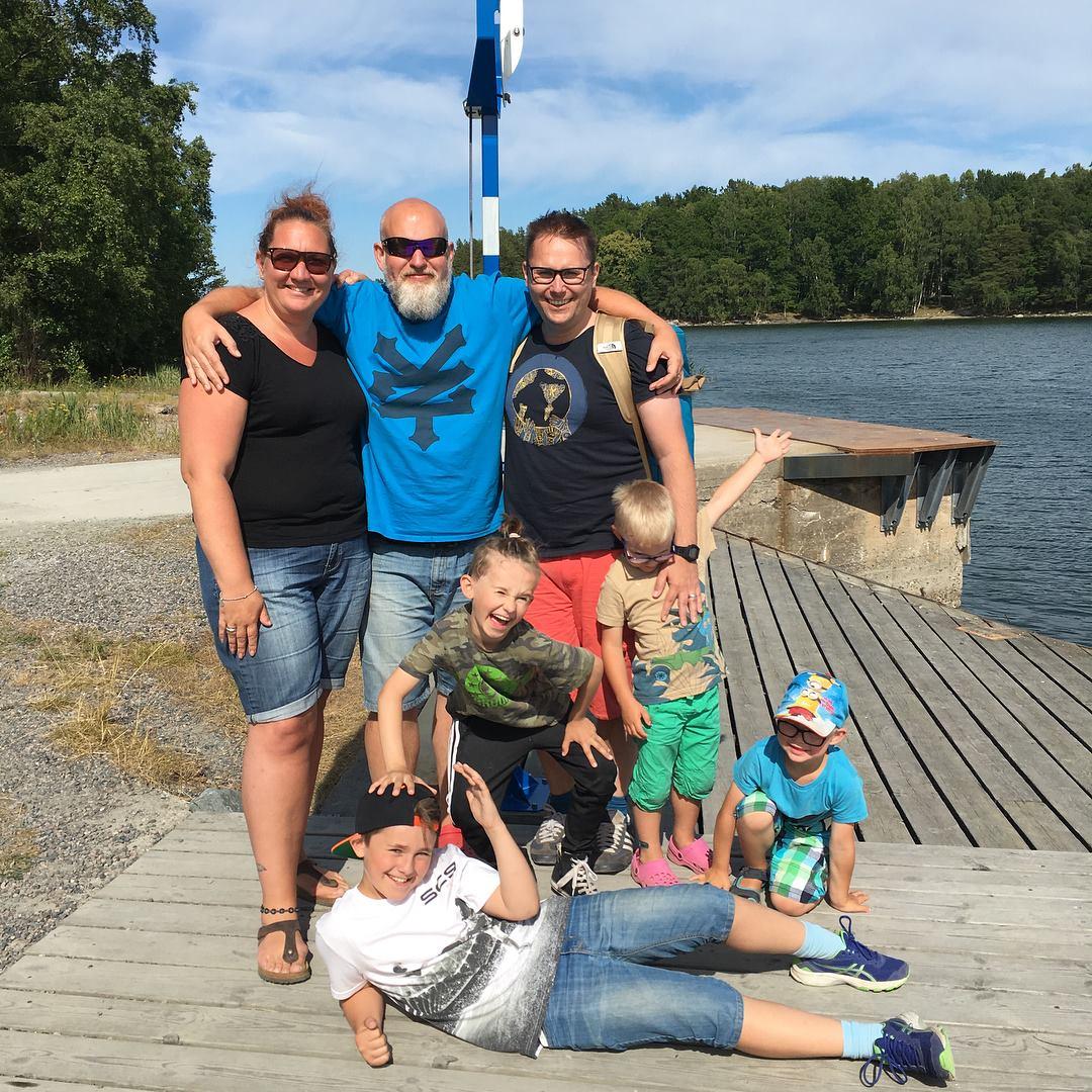 Foto från Utö på familjen Ammer och Lundell